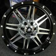 White Diamond 3310 Machined Black Wheels