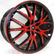 White Diamond 530 Black with Red Accent