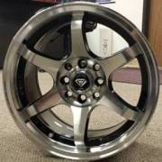 White Diamond 6011 Machined Black Wheels